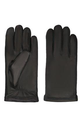 Мужские кожаные перчатки BOSS черного цвета, арт. 50457533 | Фото 2 (Мужское Кросс-КТ: Кожа и замша)
