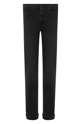 Мужские джинсы с отделкой из кожи аллигатора ZILLI темно-серого цвета, арт. MCW-00080-DBLC1/S001   Фото 1 (Длина (брюки, джинсы): Стандартные; Материал внешний: Хлопок; Кросс-КТ: Деним; Силуэт М (брюки): Прямые; Стили: Кэжуэл)