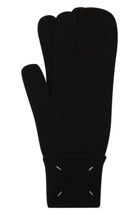 Мужские варежки из шерсти и кашемира MAISON MARGIELA черного цвета, арт. S51TS0042/S17480 | Фото 1 (Материал: Шерсть; Кросс-КТ: Трикотаж)