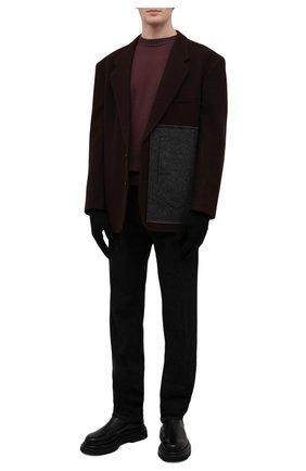 Мужские варежки из шерсти и кашемира MAISON MARGIELA черного цвета, арт. S51TS0042/S17480 | Фото 2 (Материал: Шерсть; Кросс-КТ: Трикотаж)