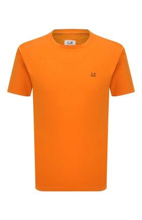 Мужская хлопковая футболка C.P. COMPANY оранжевого цвета, арт. 11CMTS037A-005100W | Фото 1 (Материал внешний: Хлопок; Стили: Спорт-шик; Рукава: Короткие; Длина (для топов): Стандартные; Принт: С принтом)