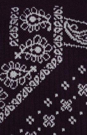 Мужские хлопковые носки PALM ANGELS фиолетового цвета, арт. PMRA001F21FAB0073703   Фото 2 (Материал внешний: Хлопок; Кросс-КТ: бельё)