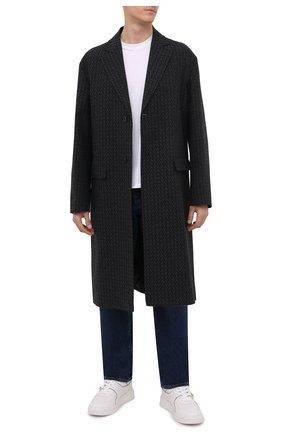 Мужские кожаные кеды one stud VALENTINO белого цвета, арт. WY0S0E71/RUS | Фото 2 (Материал внутренний: Натуральная кожа, Текстиль; Подошва: Массивная)