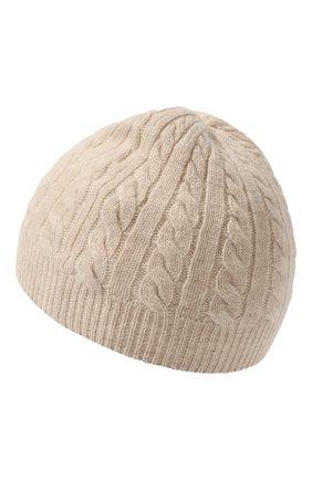 Детского кашемировая шапка OSCAR ET VALENTINE бежевого цвета, арт. BON05 | Фото 2 (Материал: Шерсть, Кашемир)