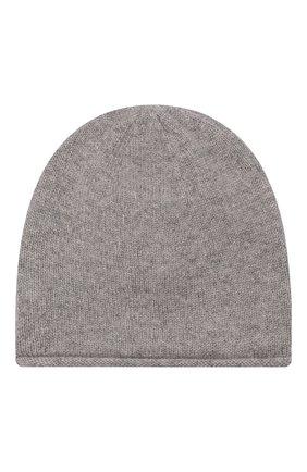 Детского кашемировая шапка OSCAR ET VALENTINE серого цвета, арт. BON15A   Фото 2 (Материал: Кашемир, Шерсть)