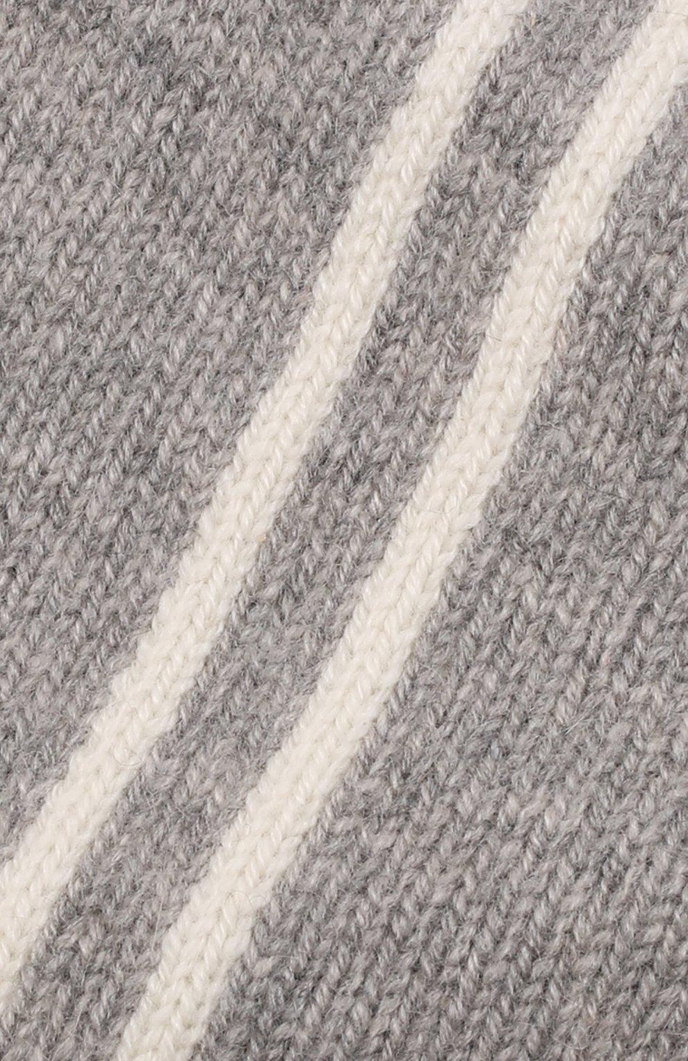 Детского кашемировая шапка OSCAR ET VALENTINE серого цвета, арт. BON15A   Фото 3 (Материал: Кашемир, Шерсть)