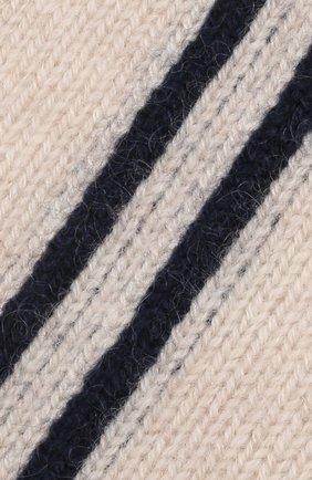 Детского кашемировая шапка OSCAR ET VALENTINE бежевого цвета, арт. BON15A | Фото 3 (Материал: Кашемир, Шерсть)