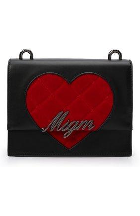 Детская сумка MSGM KIDS черного цвета, арт. MS027727   Фото 1 (Материал: Экокожа)
