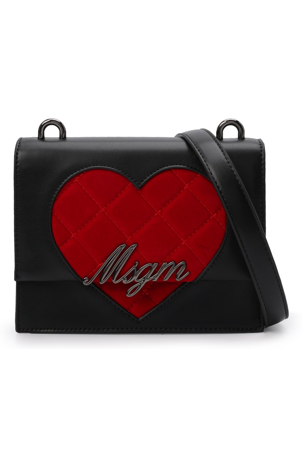 Детская сумка MSGM KIDS черного цвета, арт. MS027727   Фото 4 (Материал: Экокожа)