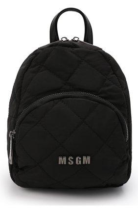 Детская рюкзак MSGM KIDS черного цвета, арт. MS027724   Фото 1 (Материал: Текстиль)