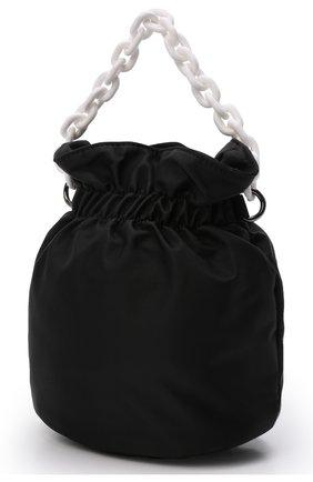 Детская сумка MSGM KIDS черного цвета, арт. MS027718   Фото 2 (Материал: Текстиль)
