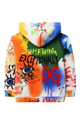 Детский хлопковая толстовка DOLCE & GABBANA разноцветного цвета, арт. L4JWBA/G7A6U/8-14   Фото 2 (Рукава: Длинные; Материал внешний: Хлопок; Мальчики Кросс-КТ: Толстовка-одежда)