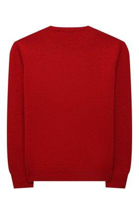 Детский шерстяной пуловер IL GUFO красного цвета, арт. A21MA379EM220/5A-8A   Фото 2 (Материал внешний: Шерсть; Рукава: Длинные; Мальчики Кросс-КТ: Пуловер-одежда)