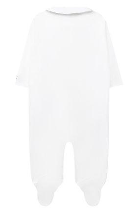Детский хлопковый комбинезон POLO RALPH LAUREN белого цвета, арт. 310816848   Фото 2 (Рукава: Длинные; Материал внешний: Хлопок)