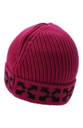 Детского хлопковая шапка OFF-WHITE фуксия цвета, арт. 0GLC001F21KNI001 | Фото 2 (Материал: Хлопок, Текстиль)
