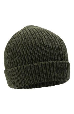 Детского хлопковая шапка OFF-WHITE хаки цвета, арт. 0BLC003F21KNI001 | Фото 1 (Материал: Хлопок, Текстиль)