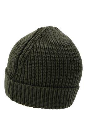 Детского хлопковая шапка OFF-WHITE хаки цвета, арт. 0BLC003F21KNI001 | Фото 2 (Материал: Хлопок, Текстиль)