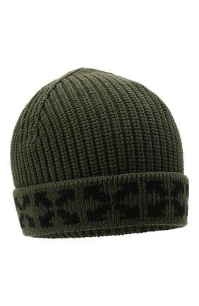 Детского хлопковая шапка OFF-WHITE хаки цвета, арт. 0BLC001F21KNI001 | Фото 1 (Материал: Хлопок, Текстиль)