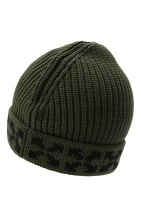 Детского хлопковая шапка OFF-WHITE хаки цвета, арт. 0BLC001F21KNI001 | Фото 2 (Материал: Хлопок, Текстиль)
