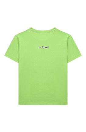 Детская хлопковая футболка DOLCE & GABBANA светло-зеленого цвета, арт. L4JTDM/G7BMC/2-6 | Фото 2 (Материал внешний: Хлопок; Рукава: Короткие)