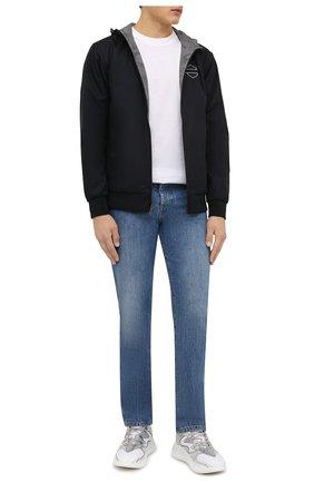 Мужской двусторонний бомбер HARLEY-DAVIDSON разноцветного цвета, арт. 97444-21VM | Фото 2 (Материал внешний: Хлопок; Материал подклада: Синтетический материал; Кросс-КТ: Куртка; Рукава: Длинные; Длина (верхняя одежда): Короткие; Стили: Спорт-шик; Принт: С принтом)