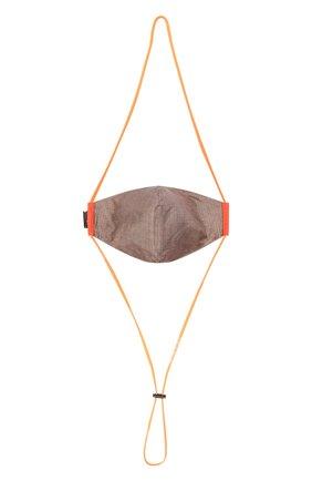 Мужская маска для лица OFF-WHITE оранжевого цвета, арт. 0MRG010F21FAB001 | Фото 2 (Материал: Синтетический материал, Хлопок, Текстиль; Мужское Кросс-КТ: Маска)