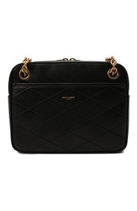 Женская сумка maillon small SAINT LAURENT черного цвета, арт. 669308/1EL07 | Фото 1 (Материал: Натуральная кожа; Размер: small; Ремень/цепочка: На ремешке; Сумки-технические: Сумки через плечо)