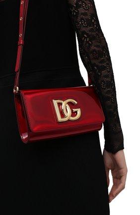 Женский клатч 3.5 DOLCE & GABBANA красного цвета, арт. BB7082/AQ495 | Фото 2 (Материал: Натуральная кожа; Женское Кросс-КТ: Клатч-клатчи, Вечерняя сумка; Размер: mini, small; Ремень/цепочка: На ремешке)