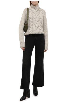 Женский кашемировый свитер KITON светло-бежевого цвета, арт. D52708066 | Фото 2 (Длина (для топов): Стандартные; Материал внешний: Шерсть, Кашемир; Рукава: Длинные; Стили: Кэжуэл; Женское Кросс-КТ: Свитер-одежда)