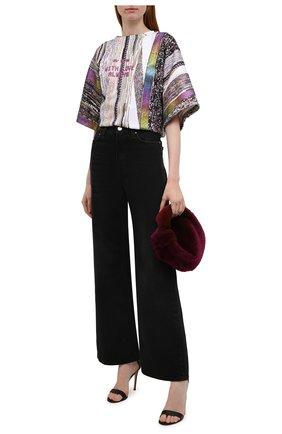 Женская футболка DOLCE & GABBANA разноцветного цвета, арт. F8P12T/HU7J2 | Фото 2 (Материал внешний: Хлопок, Синтетический материал; Длина (для топов): Стандартные; Стили: Спорт-шик; Принт: С принтом; Женское Кросс-КТ: Футболка-одежда; Рукава: Короткие)