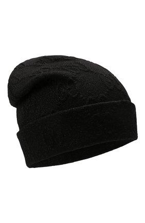 Женская шапка GUCCI черного цвета, арт. 661488/3GACM | Фото 1 (Материал: Текстиль, Синтетический материал)