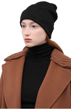 Женская шапка GUCCI черного цвета, арт. 661488/3GACM | Фото 2 (Материал: Текстиль, Синтетический материал)