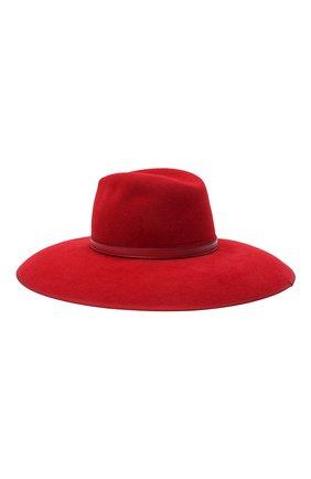 Женская фетровая шляпа с мехом кролика GUCCI красного цвета, арт. 644474/4HABK | Фото 1 (Материал: Шерсть)