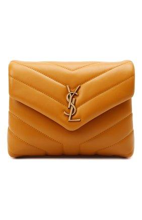 Женская сумка loulou toy SAINT LAURENT желтого цвета, арт. 678401/DV707 | Фото 1 (Материал: Натуральная кожа; Размер: mini; Сумки-технические: Сумки через плечо; Ремень/цепочка: На ремешке)
