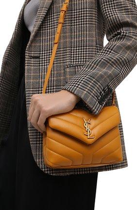 Женская сумка loulou toy SAINT LAURENT желтого цвета, арт. 678401/DV707 | Фото 2 (Материал: Натуральная кожа; Размер: mini; Сумки-технические: Сумки через плечо; Ремень/цепочка: На ремешке)