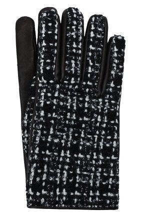 Женские кожаные перчатки SAINT LAURENT черно-белого цвета, арт. 676913/3YI52 | Фото 1