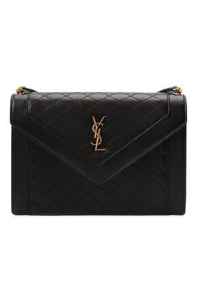 Женская сумка gaby SAINT LAURENT черного цвета, арт. 668863/1EL07 | Фото 1 (Размер: medium; Ремень/цепочка: На ремешке; Материал: Натуральная кожа; Сумки-технические: Сумки через плечо)