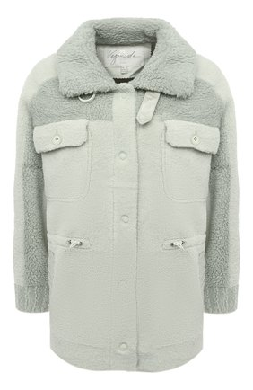 Женская куртка VEGANCODE светло-зеленого цвета, арт. BJ18095   Фото 1 (Материал внешний: Синтетический материал; Стили: Кэжуэл; Кросс-КТ: Куртка; Длина (верхняя одежда): Короткие; Рукава: Длинные)