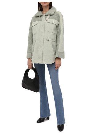 Женская куртка VEGANCODE светло-зеленого цвета, арт. BJ18095   Фото 2 (Материал внешний: Синтетический материал; Стили: Кэжуэл; Кросс-КТ: Куртка; Длина (верхняя одежда): Короткие; Рукава: Длинные)
