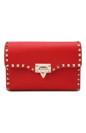 Женская сумка rockstud medium VALENTINO красного цвета, арт. WW0B0181/VSF   Фото 1 (Материал: Натуральная кожа; Размер: medium; Сумки-технические: Сумки через плечо; Ремень/цепочка: На ремешке)