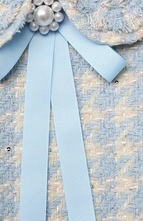 Детское хлопковое платье коко ZHANNA & ANNA голубого цвета, арт. ZABL01032021 | Фото 3 (Случай: Вечерний; Рукава: Короткие; Девочки Кросс-КТ: Платье-одежда)