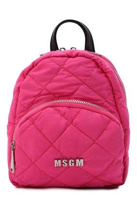 Детская рюкзак MSGM KIDS фуксия цвета, арт. MS027724   Фото 1 (Материал: Текстиль)