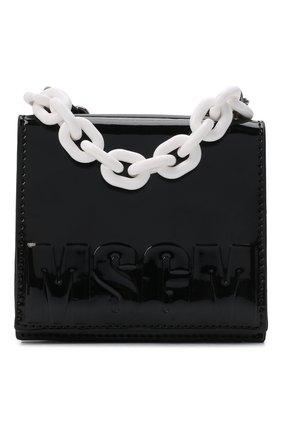 Детская сумка MSGM KIDS черного цвета, арт. MS027719   Фото 1 (Материал: Экокожа)