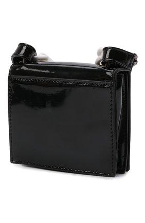 Детская сумка MSGM KIDS черного цвета, арт. MS027719   Фото 2 (Материал: Экокожа)