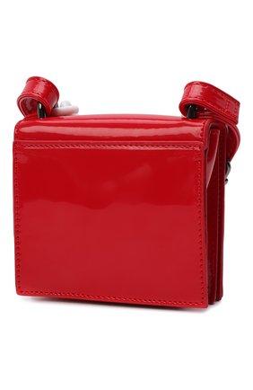 Детская сумка MSGM KIDS красного цвета, арт. MS027719   Фото 2 (Материал: Экокожа)