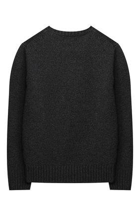 Детский шерстяной пуловер POLO RALPH LAUREN серого цвета, арт. 323857438 | Фото 2 (Рукава: Длинные; Материал внешний: Шерсть; Мальчики Кросс-КТ: Пуловер-одежда)