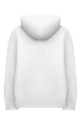 Детский хлопковое худи POLO RALPH LAUREN белого цвета, арт. 323853823 | Фото 2 (Рукава: Длинные; Материал внешний: Хлопок; Мальчики Кросс-КТ: Толстовка-одежда)