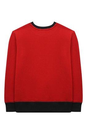 Детский хлопковый свитшот POLO RALPH LAUREN красного цвета, арт. 323853820 | Фото 2 (Материал внешний: Хлопок; Рукава: Длинные; Мальчики Кросс-КТ: Толстовка-одежда)