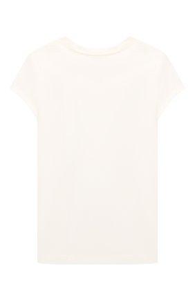 Детская хлопковая футболка POLO RALPH LAUREN кремвого цвета, арт. 312853363 | Фото 2 (Рукава: Короткие; Материал внешний: Хлопок)