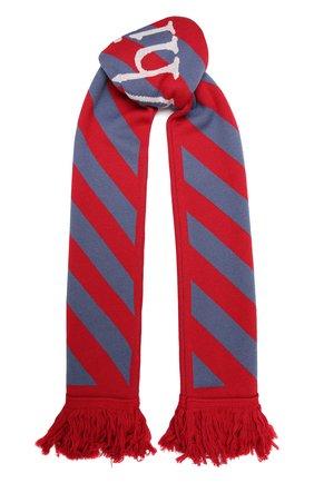 Мужской шарф OFF-WHITE красного цвета, арт. 0MMA001F21KNI002   Фото 1 (Материал: Текстиль, Синтетический материал; Кросс-КТ: другое)